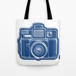 I Still Shoot Film Holga Logo - Blue Tote Bag