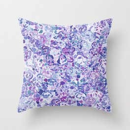 Blue and Purple Blobs Throw Pillow