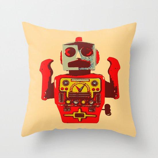 Robot II Throw Pillow