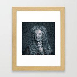 Gravity / Vintage portrait of Sir Isaac Newton Framed Art Print