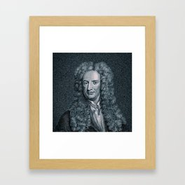 Gravity / Vintage portrait of Sir Isaac Newton Framed Art Print