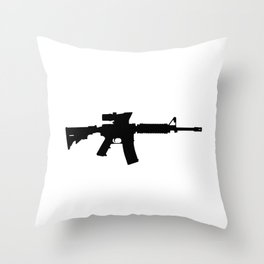M4 Assault Rifle Throw Pillow