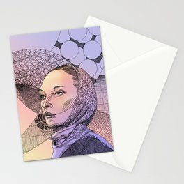 Gypsy lady with scarf (sunset) Stationery Cards