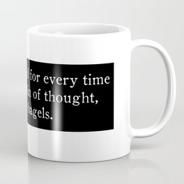 Train of nickels and bagels Coffee Mug