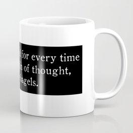Train of nickels and bagels Coffee Mug