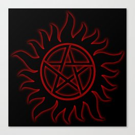 Anti Possession Sigil Red Glow Canvas Print