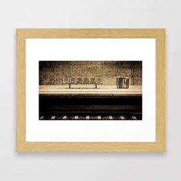 Waiting Framed Art Print