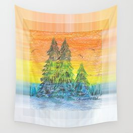 Prism Sunset Wall Tapestry