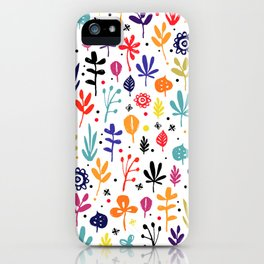 autumn multicolor leaves iPhone Case