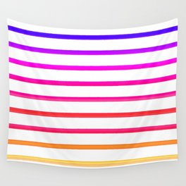 Warm lines Wall Tapestry