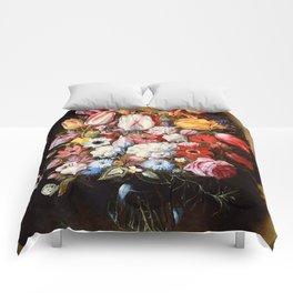 """Osias Beert """"Bouquet in a Niche"""" Comforters"""