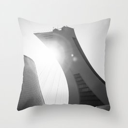 Minimalist Olympic Stadium Throw Pillow