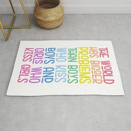 The World Has Problems LGBTQ Quote Rug