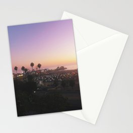Santa Monica Pier, Los Angeles, CA Stationery Cards