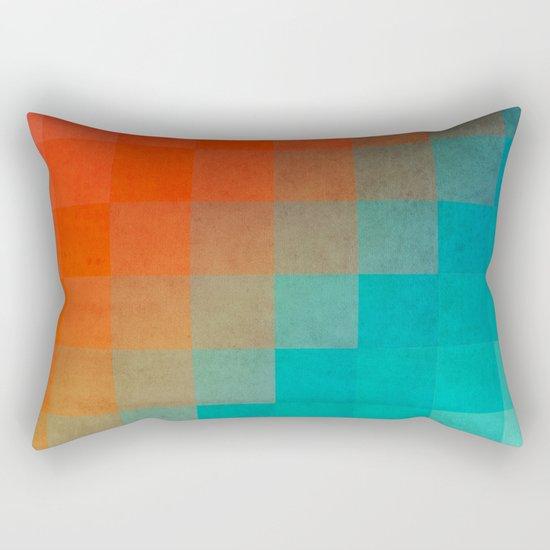 Beach Pixel Surface Rectangular Pillow