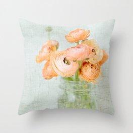 Peachy Keen Throw Pillow