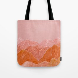 Lines in the mountains - pink II Tote Bag