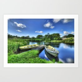 Padarn Boats Art Print