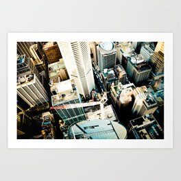 City From Above Art Print