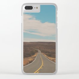 explore. adventure. Open Road Clear iPhone Case