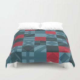 Checkered Geometric Pattern Duvet Cover