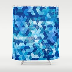 Cold Snowflake Shower Curtain