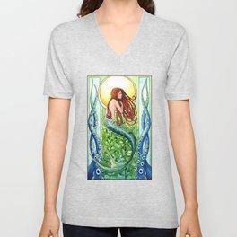 Kelp Forest Mermaid Unisex V-Neck