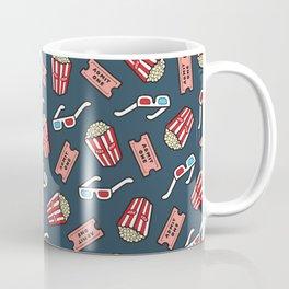 Movie Pattern in Dark Blue Coffee Mug
