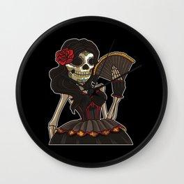 Skeleton Lady of the Dead | La Calavera Catrina Wall Clock