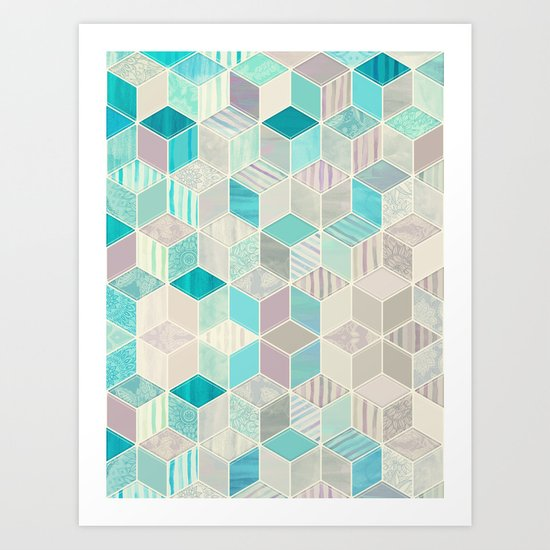 Vacation Patchwork Art Print