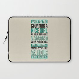Lab No. 4 When You Are Courting Albert Einstein Famous Life Inspirational Quotes Laptop Sleeve