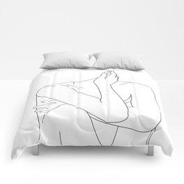 Nude life drawing figure - Celina Comforters