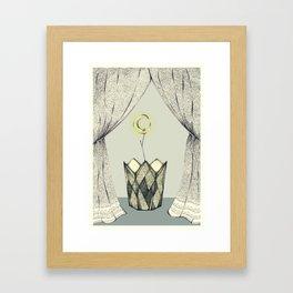 Inspired by Radiohead / Lotus flower Framed Art Print