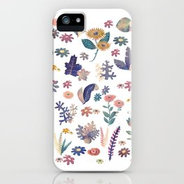 Watercolor Nature Pattern iPhone Case