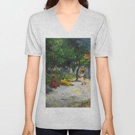 1887 - Gauguin - Village in Martinique (Femmes et Chevre dans le village) Unisex V-Neck