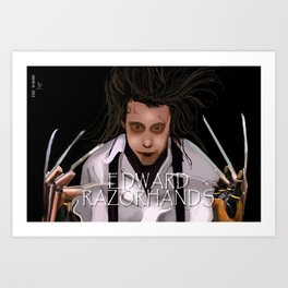 Edward Razorhands Art Print