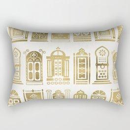 Moroccan Doors – Gold Palette Rectangular Pillow