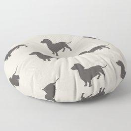 Dachshund Pattern Floor Pillow