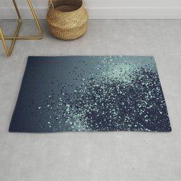 Sparkling Blue Summer Night Lady Glitter #1 #shiny #decor #art #society6 Rug