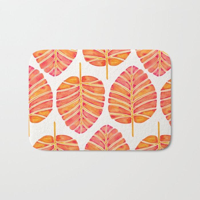 Elephant Ear Alocasia – Peach Palette Bath Mat