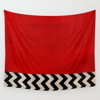 twin peaks Wall Tapestries featuring Twin Peaks - Red Room by ShaMiLa