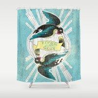 swallow Shower Curtains featuring Swallow by Chiara Sgatti