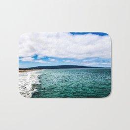 Blue Skies Ocean Waves Bath Mat