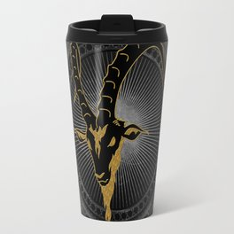 Billygoat in black and gold Travel Mug