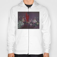Still and red Glass Hoody