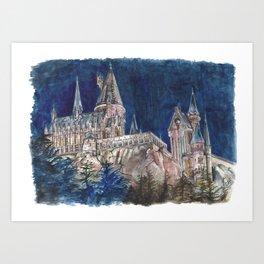 Hogwarts Painting  Art Print
