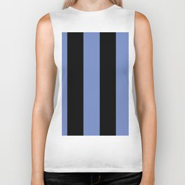 5th Avenue Stripe No. 4 in Lapis and Black Onyx Biker Tank