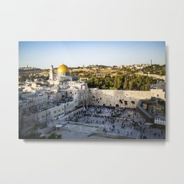 Western Wall, Old City, Jerusalem Metal Print