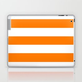 Heat Wave - solid color - white stripes pattern Laptop & iPad Skin