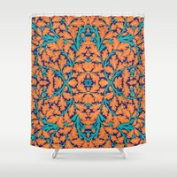 climbing Shower Curtains featuring Climbing Waltz by GEETIKAGULIA